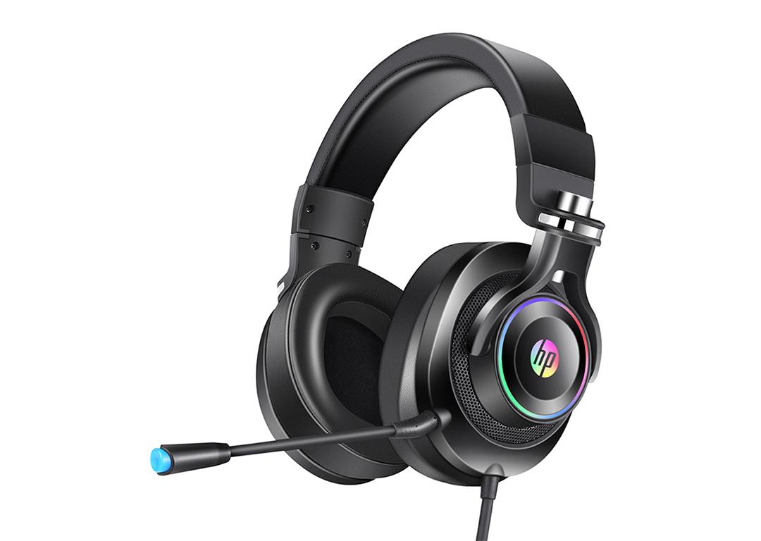 Tai nghe Headset  HP H 500GS  màu đen/ đồng  LED USB