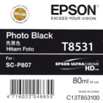 Mực in Epson màu đen T8531 Photo Black Cartridge 80ml Cho máy SC-P807